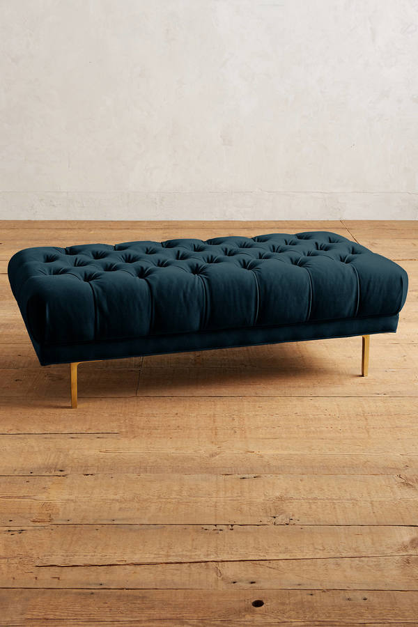 Anthropologie Anthropologie Velvet Mina Grand Ottoman