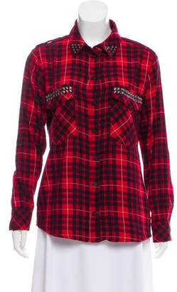 Sanctuary Studded Plaid Top