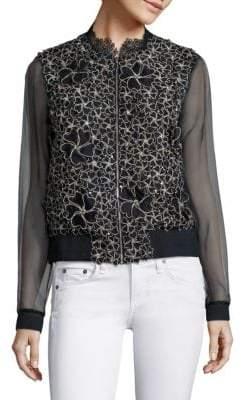 Elie Tahari Suri Silk Jacket