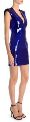 Versace Sequin Deep-V Bodycon Dress
