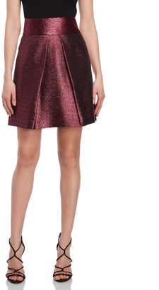 Milly Metallic A-Line Skirt