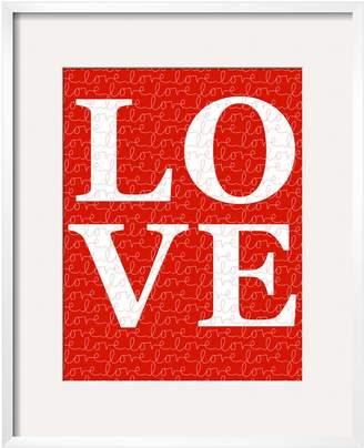 Avalisa The Art Studio Red Love by Framed)