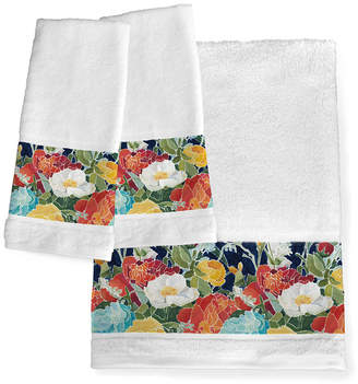 Laural Home Midnight Floral Bath Towel Bedding
