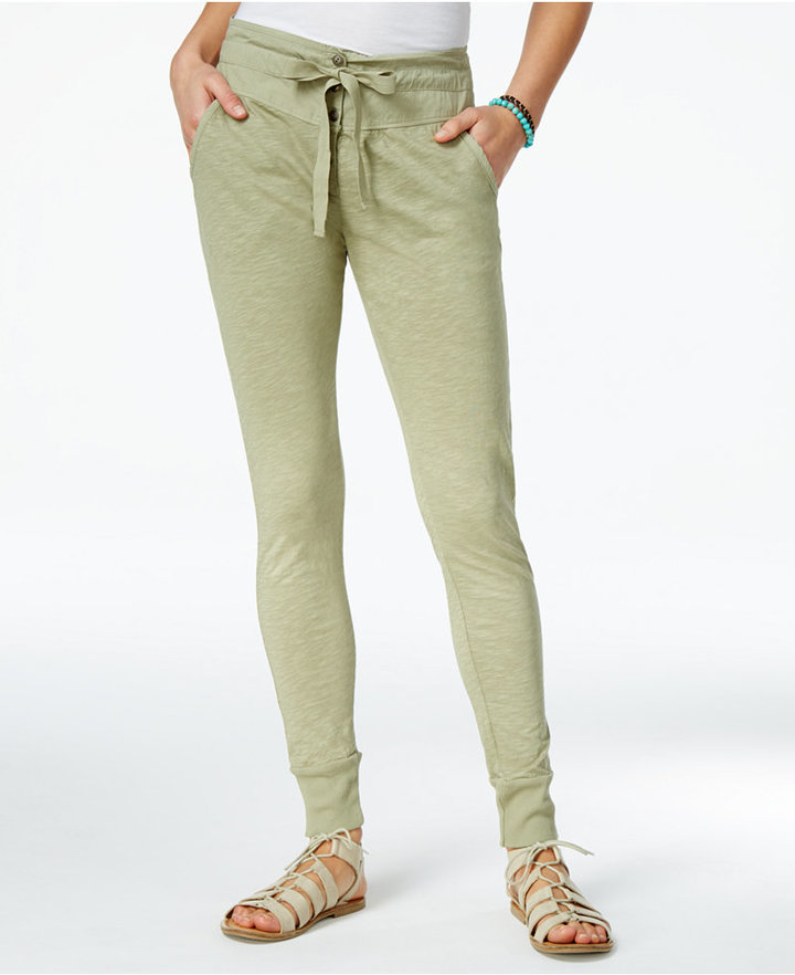 Roxy Juniors' Endless Highway Cotton Skinny Jogger Pants