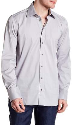 James Long Sebastien Sleeve Solid Slim Fit Woven Shirt