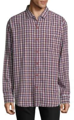 Tommy Bahama Copatana Plaid Cotton Casual Button-Down Shirt