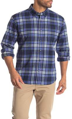 Natural Blue Single Pocket Plaid Shirt