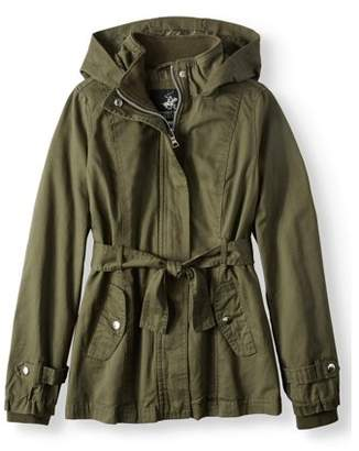 Beverly Hills Polo Club Belted Cotton Hooded Anorak Jacket (Little Girls & Big Girls)