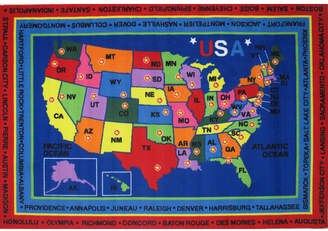 Fun Rugs Fun Time State Capitals Kids Rug Rug