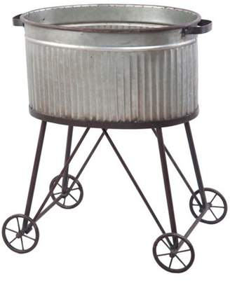 Foreside Home and Garden Galvanized Tub On Stand