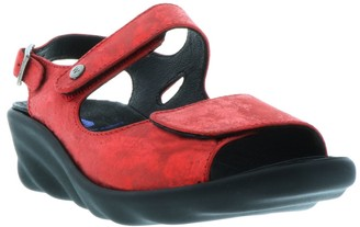 Wolky Leather Sandals with Removable Footbed -Fria
