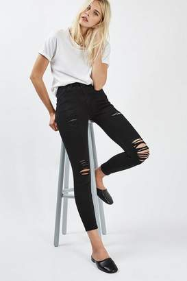 Topshop Petite Super Rip Jamie Jeans