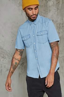 Forever 21 Slim-Fit Cotton Denim Shirt