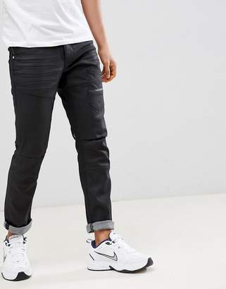 Voi Jeans Deconstructed Jeans in Coated Black