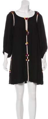 Isabel Marant Silk Tassel-Trimmed Dress