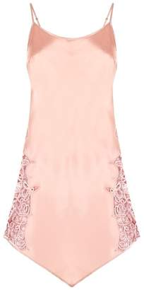 Marjolaine Lace Insert Silk Chemise