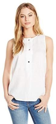 Ellen Tracy Women's Size Linen Button Tunic