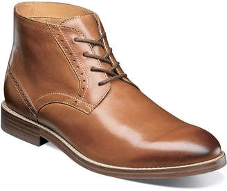 Nunn Bush Middleton Plain Toe Mens Chukka Boots Flat Heel Lace-up