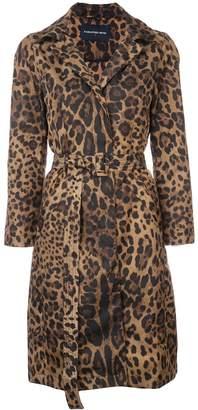 Samantha Sung Parisseinne leopard print coat