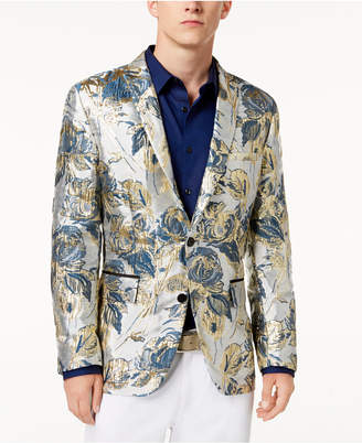 INC International Concepts I.N.C. Men's Floral Brocade Slim-Fit Blazer, Created for Macy's