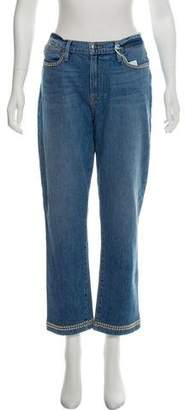 Frame High-Rise Studded Jeans w/ Tags
