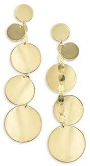 Lana 15 Year Anniversay 14K Gold Disc Earrings