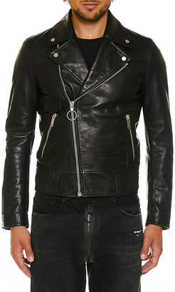 Off-White Off White Men's Leather Biker Jacket