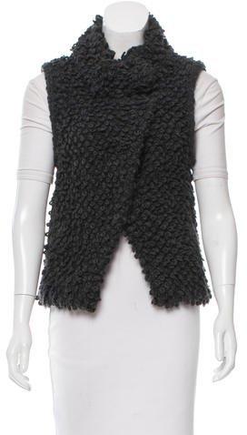 IROIro Notch-Lapel Bouclé Vest