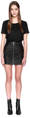 Mackage DEMIA Lamb leather belted short skirt with zipper