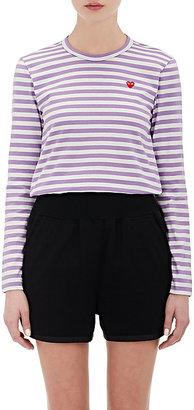 Comme des Garçons PLAY Women's Striped T-Shirt $130 thestylecure.com