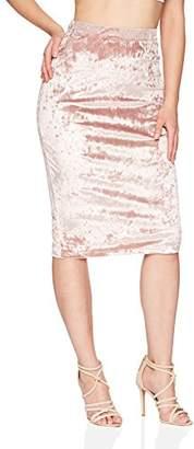 Velvet Rope Women's Ice Velvet Open Slit Back Midi Skirt