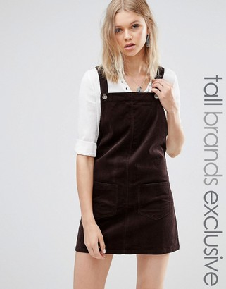 Glamorous Tall Corduroy Overall Dress With Pockets $46 thestylecure.com