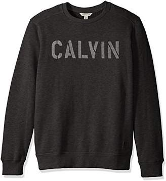 Calvin Klein Jeans Men's Needle Punch Logo Crew Neck Shirt