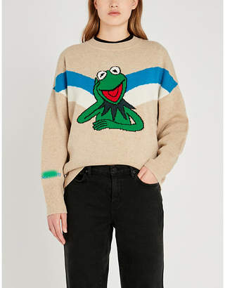 Sandro The Muppet Show x intarsia wool jumper