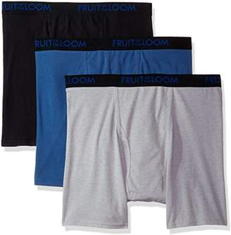 Fruit of the Loom Men's 3-Pack Premium Breathable Cotton Micromesh Big Man Boxer Brf