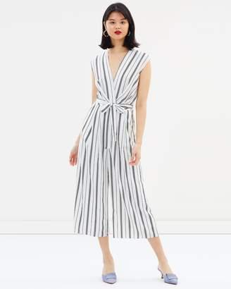 Miss Selfridge Stripe Twist Jumpsuit