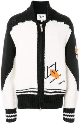 Gant zipped chunky knit cardigan