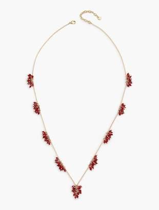 Talbots Long Flower Burst Necklace