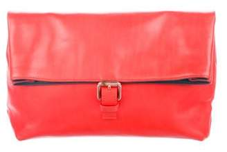 Cédric Charlier Leather Fold-Over Clutch