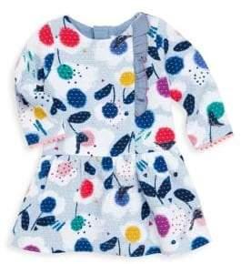 Catimini Little Girl's Allover Printed Fit-&-Flare Dress