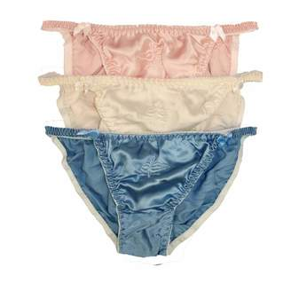 43a0f0eb5ec7 Paradise Silk NWT Lot 3 Silk Women's String Bikinis Panties -USL