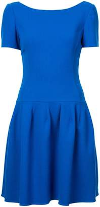 Oscar de la Renta bateau neck drop waist dress