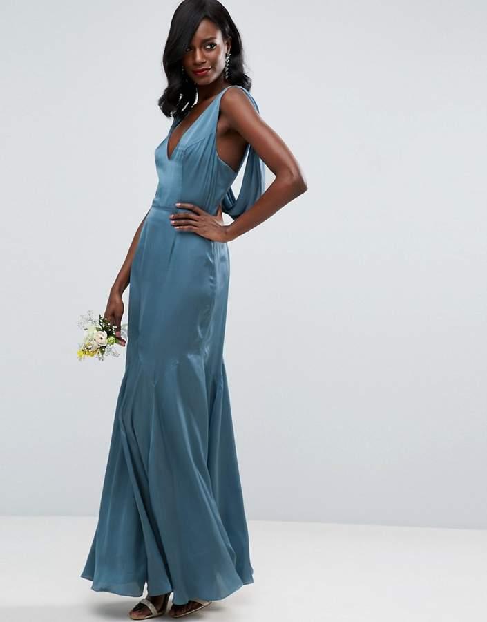 AsosASOS WEDDING Premium Drape Cowl Back Cami Maxi Dress