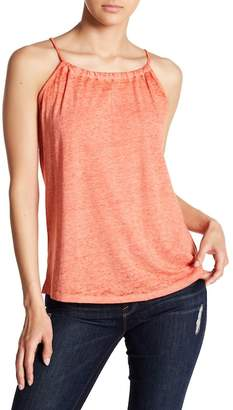 Planet Gold Heathered Burnout Tank Top