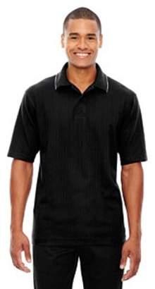 Ash City - Extreme Men's Edry Needle-Out Interlock Polo - BLACK 703 - 4XL 85067