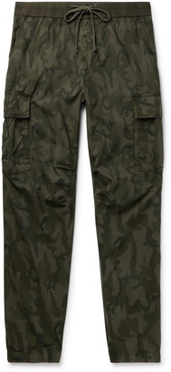 James Perse Tapered Camouflage-Print Cotton-Ripstop Cargo Trousers