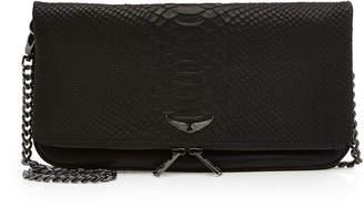 Zadig & Voltaire Rock Savage Embossed Leather Shoulder Bag
