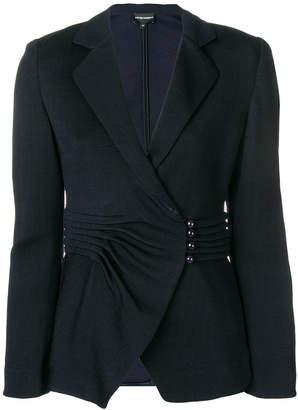 Emporio Armani pleated waist blazer