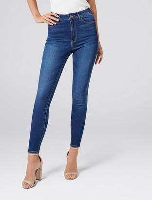 Forever New Helena High-Rise Full Length Jeans - Barcelona Blue - 4