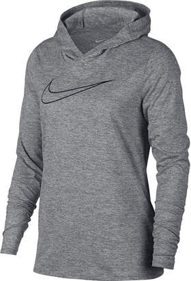 Nike Long Sleeve Hooded Neck T-Shirt-Womens
